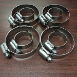 PONTIAC FIREBIRD HOSE CLAMP SET FULL STAINLESS STEEL FOR RADIATOR AND HEATER HOSES - PONTIAC / OLDSMOBILE - 8 PCS