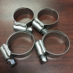 PONTIAC FIREBIRD HOSE CLAMP SET FULL STAINLESS STEEL FOR HEATER HOSES - PONTIAC / OLDSMOBILE - 4 PCS