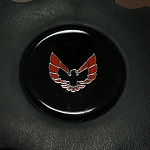 1970-81 Trans AM Horn Buttom Emblem - Red Bird